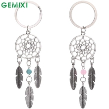 Starry-Styling Dreamcatcher Feather Tassel Keychain Bag Handbag Ring Car Key Pendant Delicate