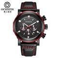 OCHSTIN Мода Военный Хронограф Мужские Часы Топ Luxury Brand Мужчины Кварцевые Часы relogio masculino мужские Деловые Часы