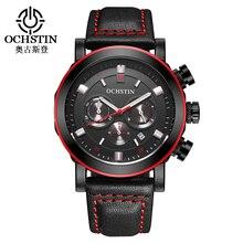 Ochstin модные Военная Униформа хронограф Для мужчин S Часы Топ Элитный бренд Мужчины Кварцевые часы Relogio masculino Для Мужчин's Бизнес часы