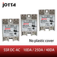 SSR -10DA/25DA/ 40DA DC control AC SSR white shell Single phase Solid state relay without plastic cover