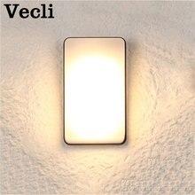 Купить с кэшбэком Outdoor led simple modern wall lamp waterproof super bright courtyard door light