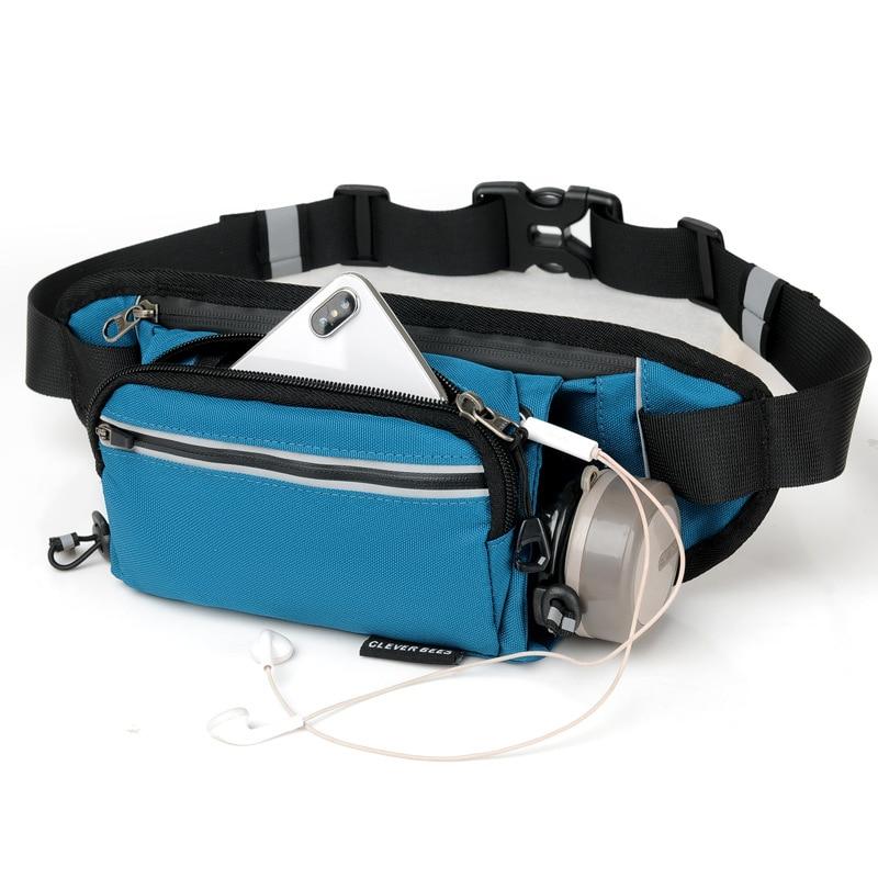 Quick Dry Nylon Sports Running Jogging Cycling Belt Waist Bag Hydration Pack