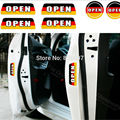 6 x Newest Germany Flag Style Car Door Warning Stickers Car Rear Trunk Warning Decals for Volkswagen Audi BMW Benz Opel