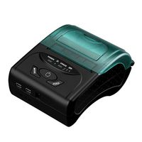 Portable Mini Wireless 58mm Bluetooth High Speed Direct Thermal Printer, Compatible with Android & IOS & Windows & Linux syste