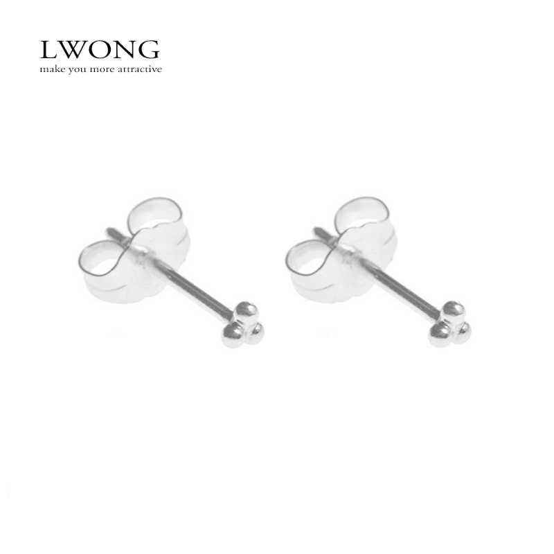 Minimalistische 925 Sterling Zilver Drie Bal Stud Oorbellen Delicate Tiny Dot Kleine Oorbellen Kraakbeen Helix Piercing Oorbel