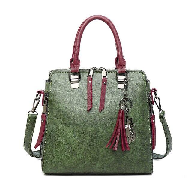 234c960fa597 2018 Limit Discount Fashion Genuine Leather Crossbody Bag Women Handbag  Tote Vintage Satchel Tassel Accessories Shoulder Bag