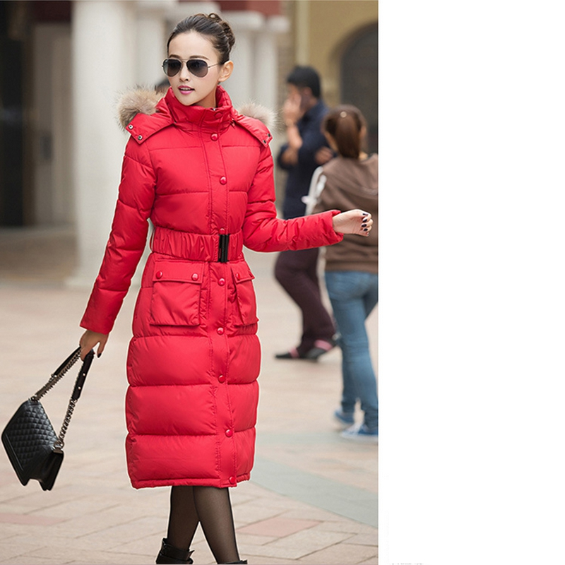 2017 NEW WINTER WOMEN THICKEN X-LONG SLIM WARM PARKAS JACKET SOLID HOODED COTTON PADDED COAT FEMALE CLOTHES HIGH QUALITY ZL254 2017 new winter coat for women slim black solid hooded long warm cotton parkas female thicker zipper red jacket padded