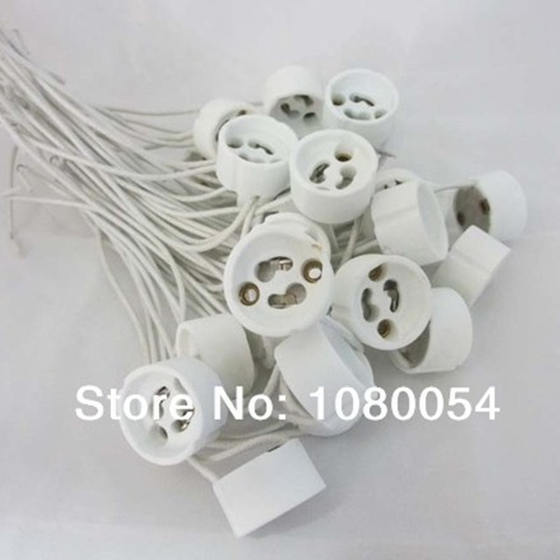 Keramik GU10 lampenfassung adapter draht anschluss keramik buchse ...