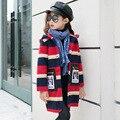 2016 impressão meninas casacos de inverno e jaquetas crianças outwear parka quente para baixo roupas de algodão acolchoado crianças bebê meninas clothing