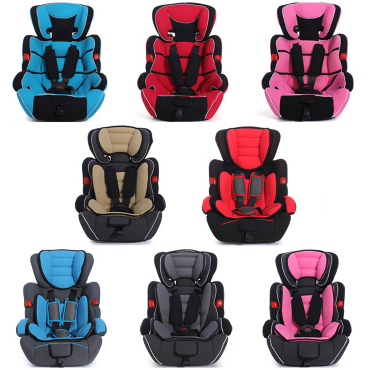 Adjustable Baby Car Seat Child Safety Booster Seat for 9 Months-12 Years 9-36 kg ECE R44/04 children red black adjustable cotton child car safety seats comfortable infant practical baby cushion for kids 9 months 12 years