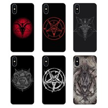 Killstar Satan Say Meow skull pentagram occult evil For Huawei Honor 8 8C 8X 9 10 7A 7C Mate 10 20 Lite Pro P Smart Plus Covers(China)