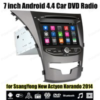 Android4 4 Car DVD Support TPMS GPS DAB OBDII DVR BT 3G WiFi For Ss AngYong