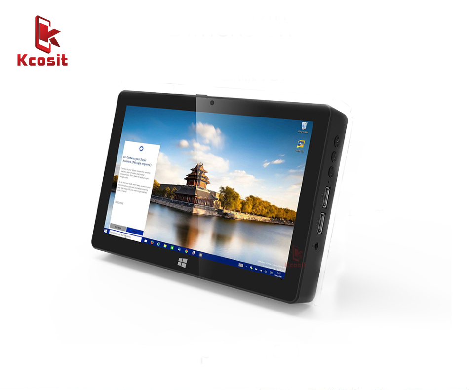 "2019 Mini PC Windows 10 Home Business Office Portable Pocket Tablet PC Intel Z8350 8"" Screen 4GB RAM 64GB ROM USB WIFI Desktops"