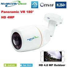Best Outdoor VR 180 Degree Panoramic Fish Eye Lens 4.0MP IP Camera Night Vision kamera APP Remote Control P2P IP Network Onvif