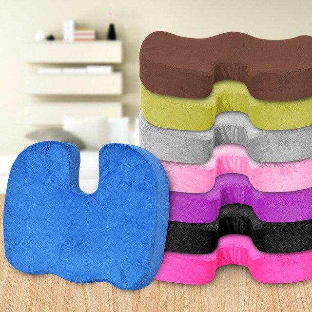 Travel Breathable Seat Cushion Coccyx Orthopedic Memory Foam U Seat Massage Chair Cushion Pad Car U-Shape Seat Cushion