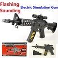 Fresco caliente pistola eléctrica M4A1 metralletas juguetes del arma con vibración y intermitente y sonando rifle de francotirador juguetes submachinegun para niños