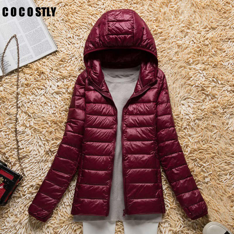 High Quality 2018 Winter Coats Down Jacket Women Coat Lady Ultralight Down Jackets Female Windproof Parkas