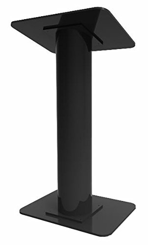 Fixture Displays Black Acrylic Plexiglass Church Podium Pulpit Lectern Black