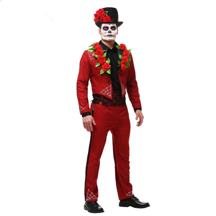 traje del diablo rojo de halloween disfraces cosplay para los hombres traje de pascua para los