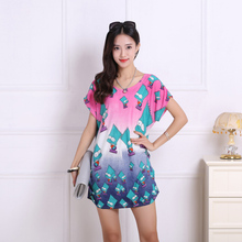 2017 spring summer women Dress Plus Size Women dress short sleeve Loose Casual tiger lepord print tunic dresses big large 5xl