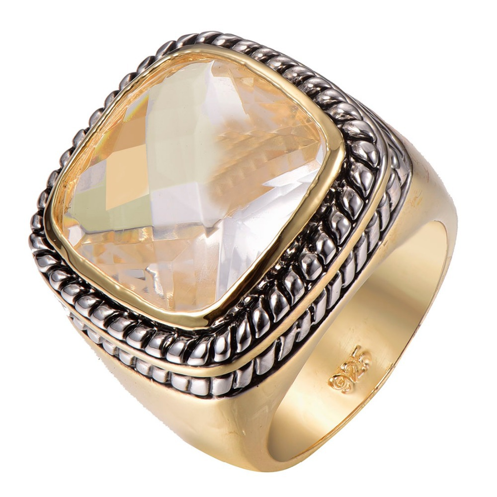 Factory price Huge Morganite Gold Filled Beautiful Ring Free Shipping Size 6 7 8 9 10 F1316