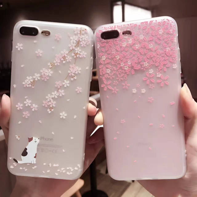 coque iphone 7 petales