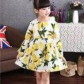 Fall Style Girls Dresses Kids Dresses For Girls Lemon Dress Princess Dress Kids Clothes Girls 3 4 5 6 7 8 9 10 Year Olds