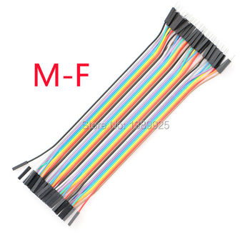 Free Shipping 10lots Total 400P (10*40P) 20cm 1P-1P Female To Male DuPont Line Wire Cable