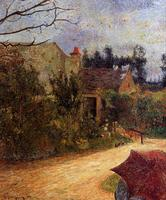 High quality Oil painting Canvas Reproductions Pissarro's Garden, Pontoise (1881) by Paul Gauguin hand painted
