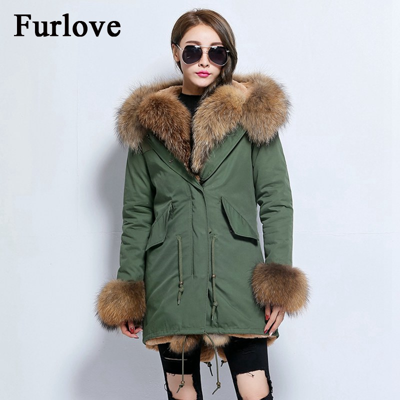 Winter Coat Women 2017 Long Jacket Warm Fur Liner Jackets Natural Real Fox Fur Collar Hooded Coats Thick Parka DHL Free Shipping 2017 winter new clothes to overcome the coat of women in the long reed rabbit hair fur fur coat fox raccoon fur collar