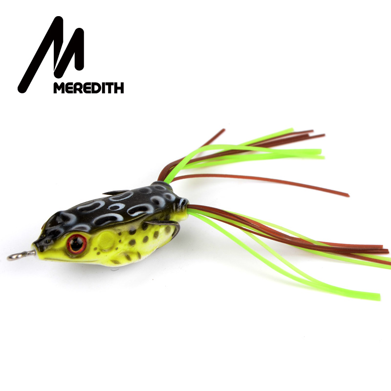 MEREDITH 4.5g 4cm masažas varlė Žvejyba Plaukiojantieji viršutinio vandens žūklės varlės užkrečia minkštus balus Snakehead Bass