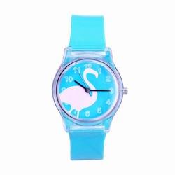 2018 известный бренд женщин детская одежда для девочек прозрачный Лебединое Повседневная Водонепроницаемая кварцевые наручные часы