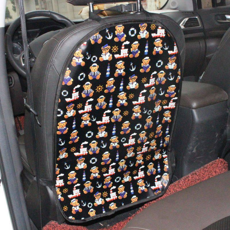 Automobile voiture soin siège étui protecteur dorsal couverture Auto accessoires enfants enfants coup de pied tapis boue propre plastique Anti-coup de pied tampons