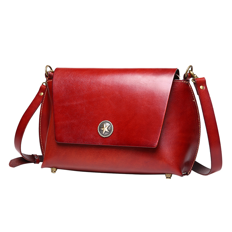ФОТО New Fashion Tanned Genuine Leather Women Messenger Crossbody Bags Woman Handbags Solid Single Shoulder Bags for Female Ladies