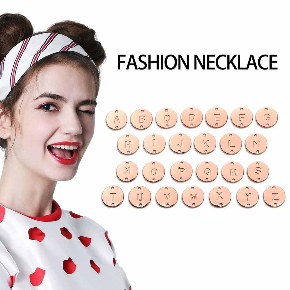 Accesorios de joyería pulseras 26 letras pequeñas inglesas pulseras personalidad colgante redondo pulsera collar DIY