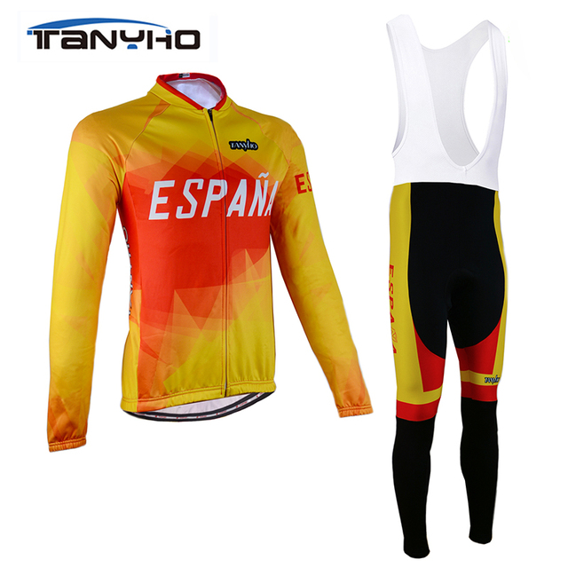 78898c27f Tanyho 2018 Spain Modesti Cycling Clothing Set Autumn Breathable Bicycle  Wear Long Sleeve MTB Bike Jersey Ropa Maillot Ciclismo