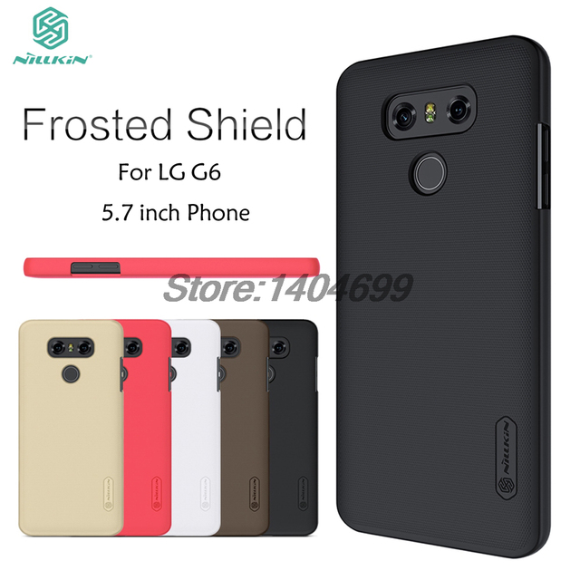 US $7 19 20% OFF|sFor LG G6 Case Nillkin Frosted Shield Hard Armor PC Back  Cover Case For LG G6-in Half-wrapped Case from Cellphones &