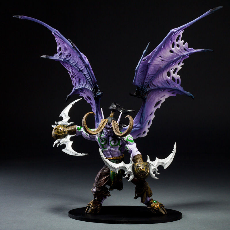 Wow World Of Illidan Stormrage Action Figure Toy Doll Model Statue wow world of war rehgar orc dwarf warrior thargas anvilmar figure lot x2