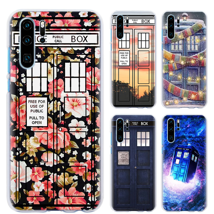 Floral Telephone Box Doctor Who Phone Case For Huawei P30 P30 Pro P9 P10 P20 Lite P Smart Plus View 20 Hard Pc Back Case Coque Half-wrapped Case Cellphones & Telecommunications
