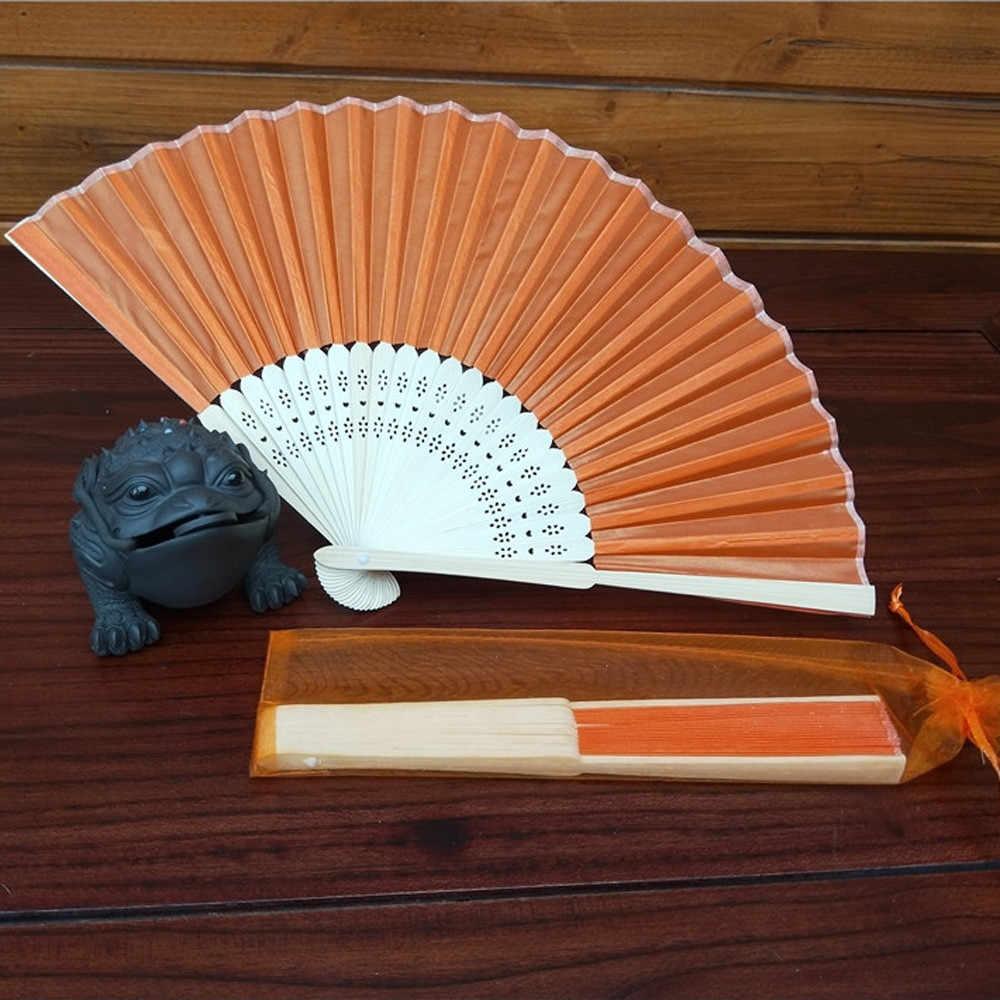 38 سنتيمتر النمط الصيني باليد مروحة الخيزران الحرير مروحة قابلة للطي ديكور حفلات الزواج
