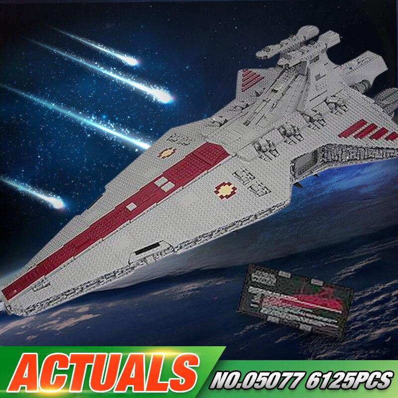 DHL educativos 05077 juguetes Wars UCS Rupblic destructor estelar crucero ST04 conjunto de bloques de construcción ladrillos juguetes para niños de regalo de Navidad