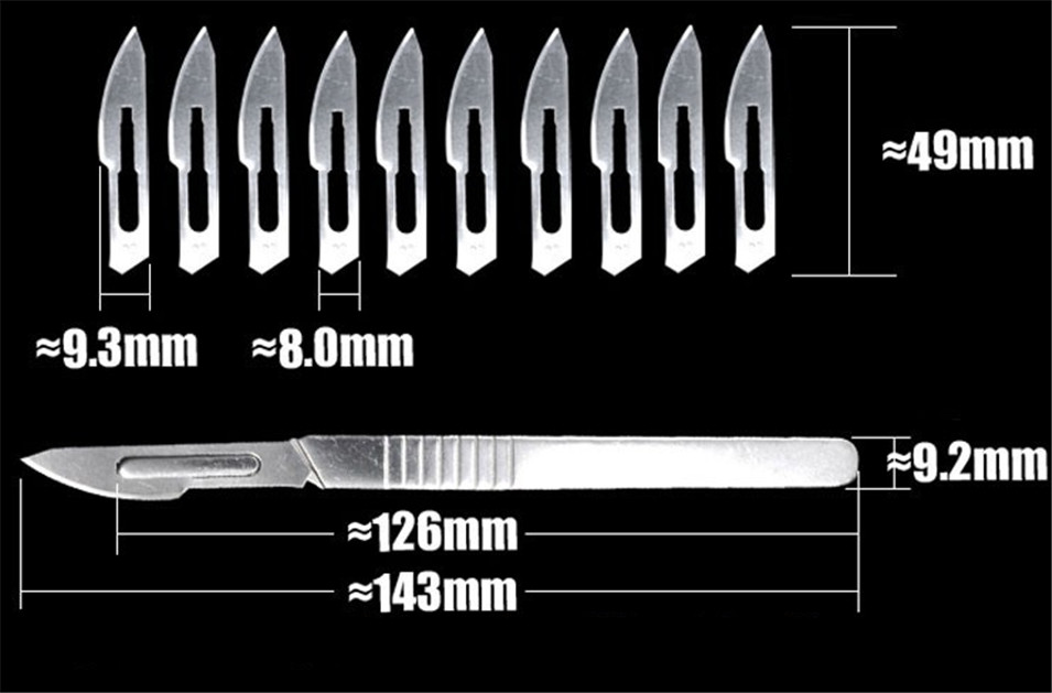2017 HOT NO23 Stainless Steel Scalpel+10pcs Blade For Cutting Electronics Repair Tools PCB Circuit Board Free Shipping