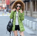 Europa 2016 de invierno nueva moda de gama alta ropa de mujer de abrigo elegante del temperamento delgado yardas grandes de invierno chaqueta abajo de la capa T0337