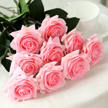 7pcs real touch moisturizing rose Valentines Day gift living room decoration interior
