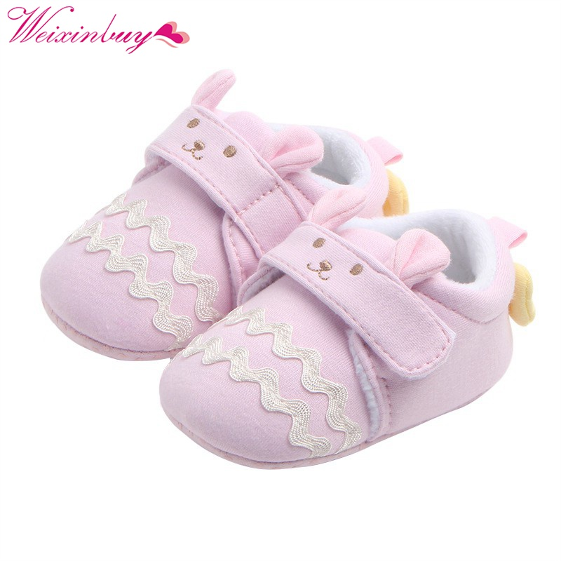 2017 Fashion New Autumn Winter Non-slip Baby Shoes Girls Boy First Walkers Newborn Shoes 0-9M Shoes First Walkers