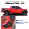 Body Rear Tail Side Graphic Vinyl Decals For Ford FORD F150 RAPTOR 2009 2010 2011 2013