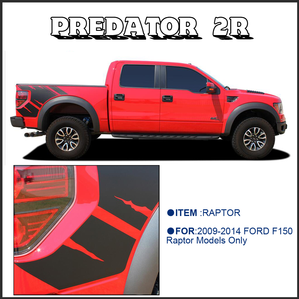 Body rear tail side graphic vinyl decals for ford ford f150 raptor 2009 2010 2011 2013 2014 sticker