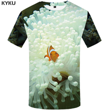KYKU 3d Tshirt Men Psychedelic T-shirt Galaxy Nebula Print T Shirt Jellyfish Hip Hop Mens Clothing Funny Shirts Summer Tops