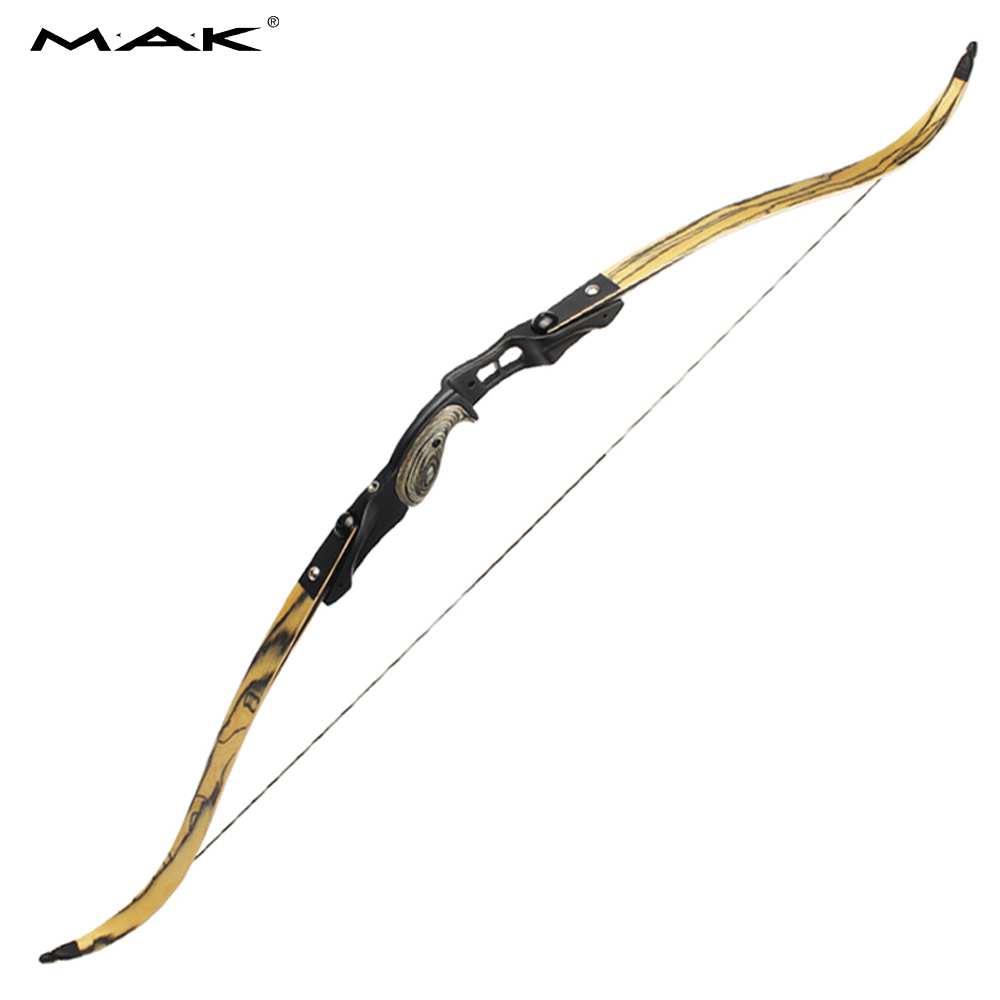 30-60 lbs American Recurve Bow 2 Color 60 Inches in IBO 190FPS with 17 inches Riser for Archery Bow Hunting Shooting 60 hanks stallion violin horse hair 7 grams each hank 32 inches in length