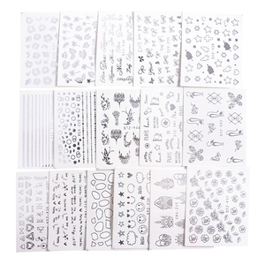 Image 5 - 16pc/set Nail Sticker Decal Water Sliders Holo Sliver Flower Necklace Design Nail Accessories Manicure Decor Nail Art SASTZ YS16